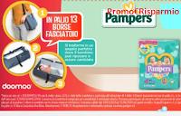 Logo Concorso Pampers ''Con amore si viaggia'': vinci Borse fasciatoio Doomoo