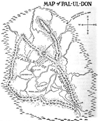 Pal-ul-don térképe