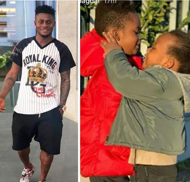 Nigerian Football Star Obafemi Martins Shares Adorable Picture Of His Kids