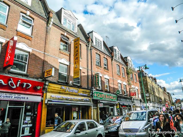 Londres - restaurante bengali Nazrul em Brick Lane