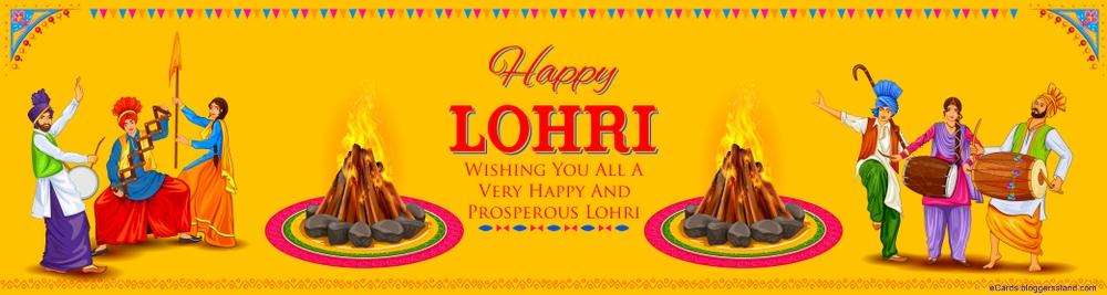 Happy lohri 2021 facebook cover download hd free