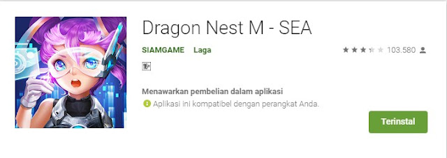 Game MMORPG AndroidDragon Nest M
