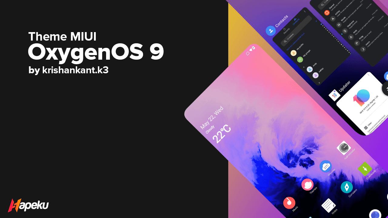 Theme Oxygen OS 9 Dark for MIUI 10 & 11 ( XIAOMI )