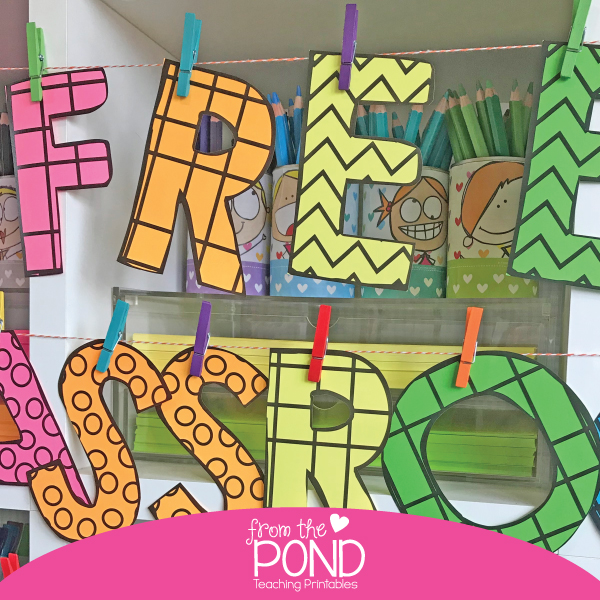 DIY Bulletin Board Letters For the Classroom