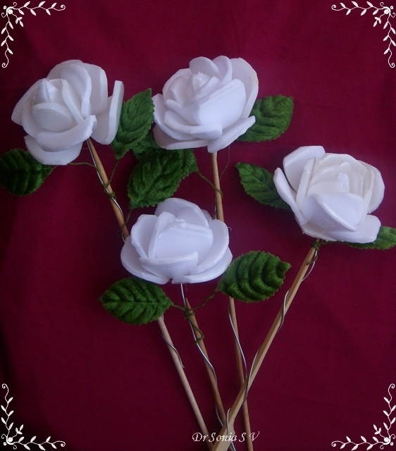 Cards Crafts Kids Projects Thermocol Flowers Tutorial