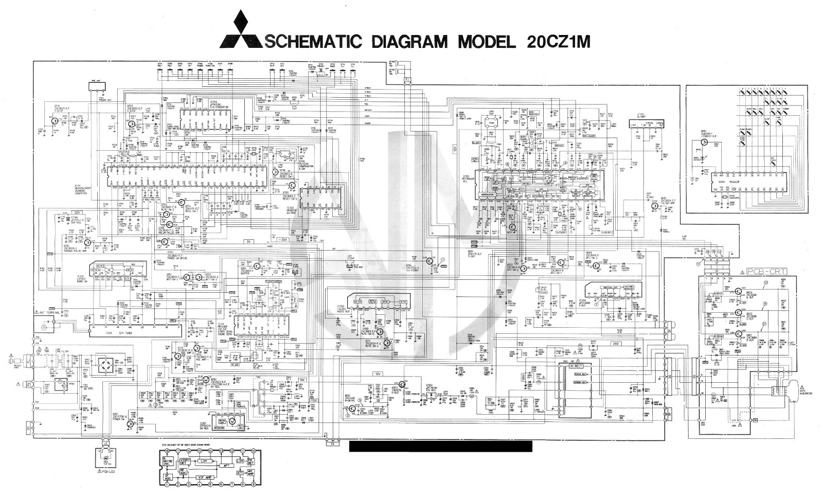 Electro Help  Mitsubishi - 2-cz1 Crt Tv