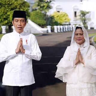 Presiden Jokowi dan Ibu Negara Sampaikan Ucapan Hari Raya Idulfitri 1442