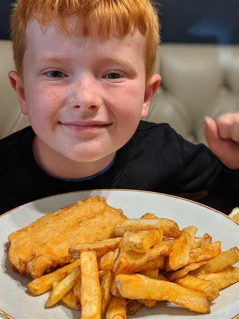 Small Fish and Chips from The King's Head Inn Pub near Roseberry Topping