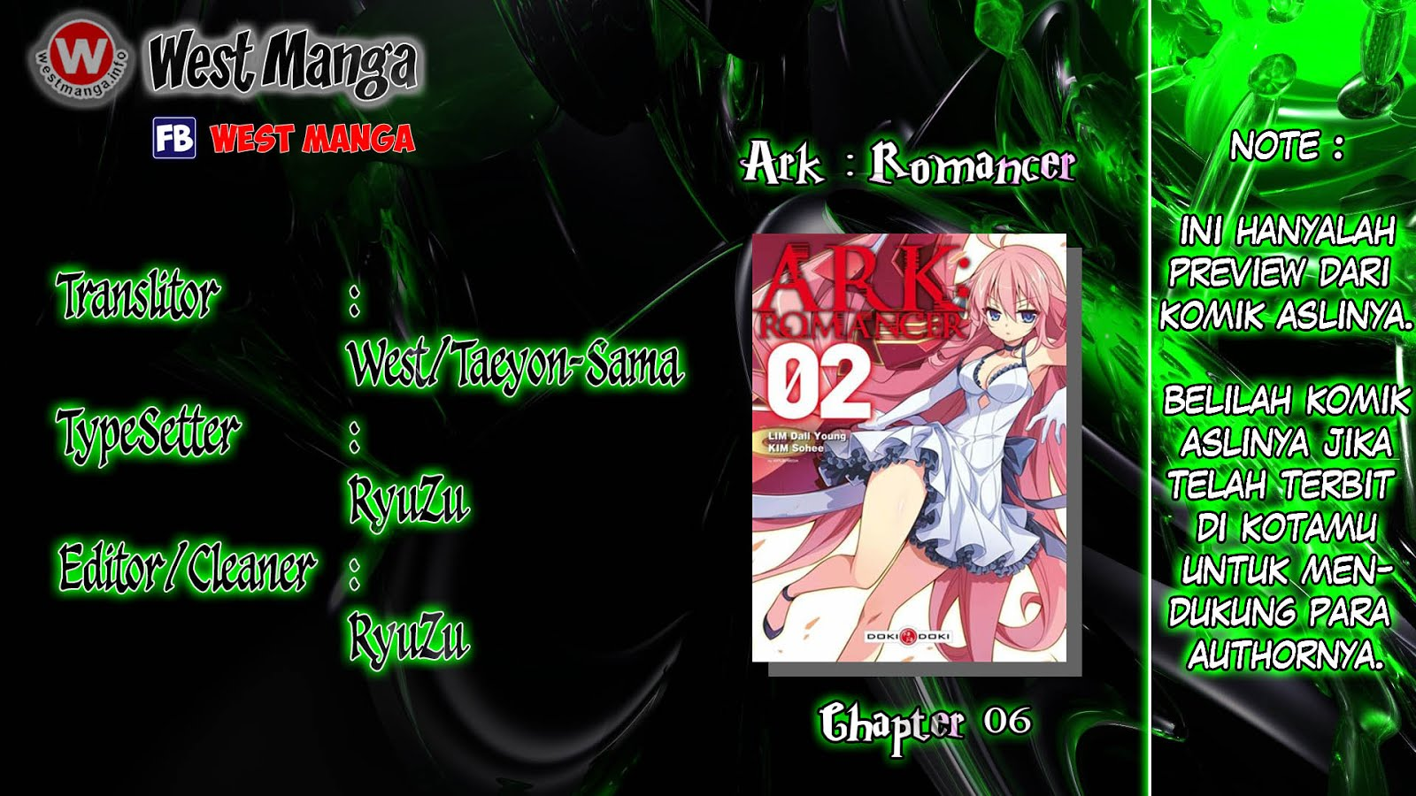 Baca Komik ARK: Romancer Chapter 6 Komik Station