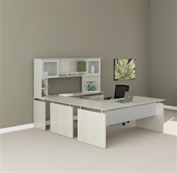 Mayline Medina White Office Desk