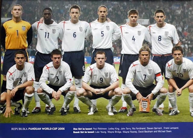 ENGLAND FOOTBALL TEAM SQUAD 2006