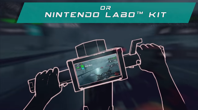 Moto Rush GT Nintendo Labo Toy-Con Motorbike controller option
