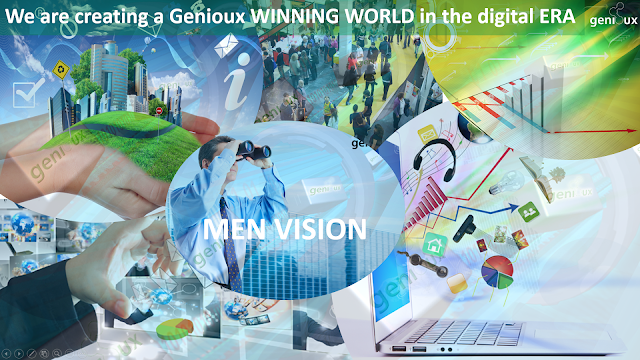 We are creating a Genioux WINNING WORLD in the digital ERA, Men Vision