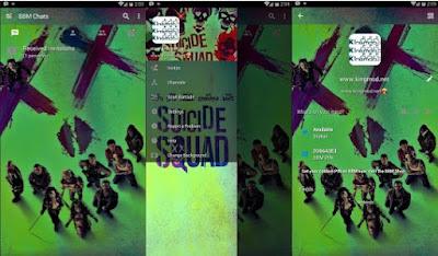 BBM MOD Suicide Squad Versi Terbaru v3.1.0.13 Apk Clone / Unclone Full Features