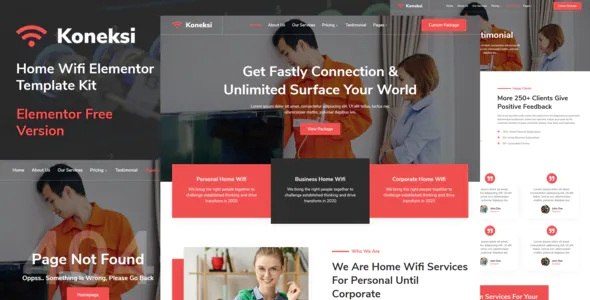 Best Home Wifi Internet Services Elementor Template Kit