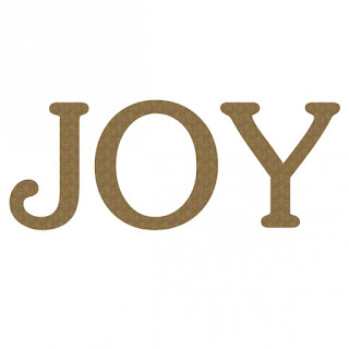 Joy chipboard word