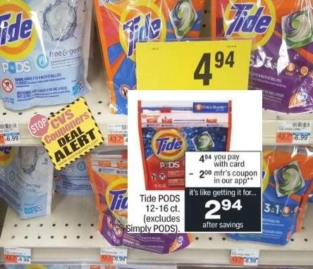 Tide Pods CVS Coupon Deal 6/20-6/26