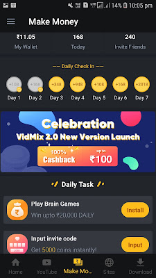 earn paytm new earning application vidmix