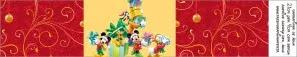Navidad de Mickey y sus Amigos: Etiquetas para Candy Bar para Imprimir Gratis.
