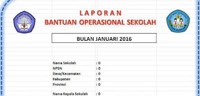 Contoh SK Tim Managemen BOS 2016 & Aplikasi Buku Kas Umum - Laporan BOS 2016
