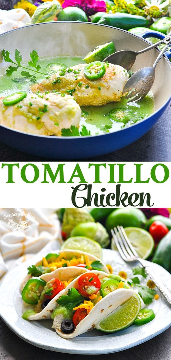 5-Ingredient Tomatillo Chicken