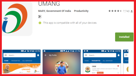 UMANG Digital India Android App Install for Bill Payments-Download