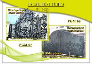 Katalog pintu gerbang besi tempa, pintu gerbang klasik mewah 07