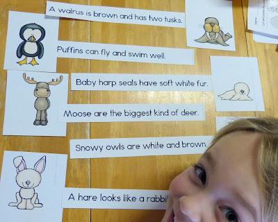 https://www.teacherspayteachers.com/Product/Arctic-Sentence-Picture-Match-Reading-Center-1633241