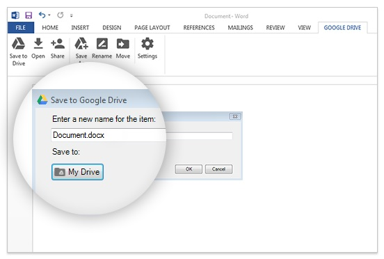 Google Drive plug-in for Microsoft Office launched