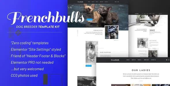 Best Dog Breeder Elementor Template Kit