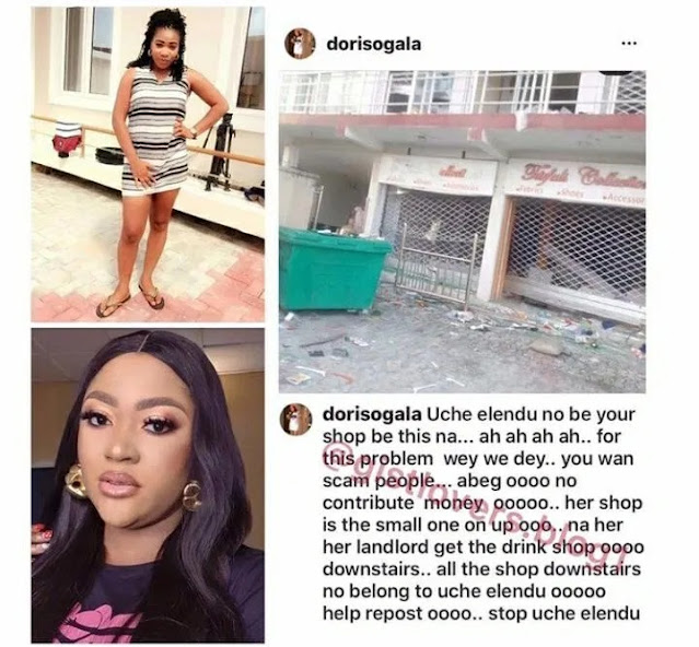Drama Unfolds As Actress Uche Elendu Is Accused Of Lying About Shop Being Looted