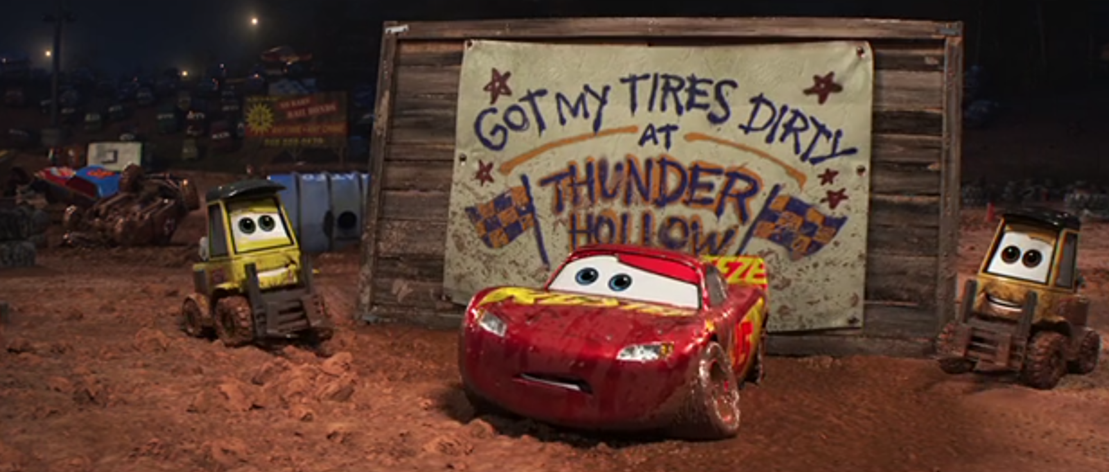 Dan The Pixar Fan Cars 3 Muddy Rust Eze Racing Center Lightning