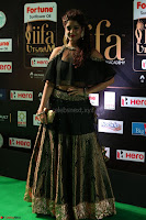 Ritika Singh in a Ethnic Deep Neck Dark Green Choli Ghagra at IIFA Utsavam Awards March 2017 ~ 044.JPG