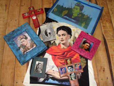colección de objetos Frida Kahlo