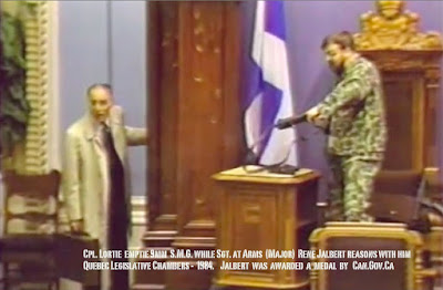 Lortie fires his submachinegun in Quebec Legislature - May 8, 1984