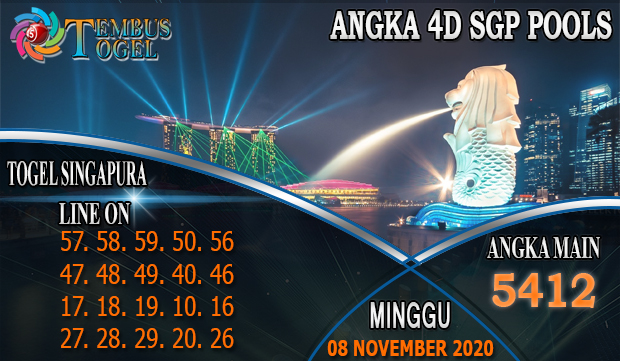 Angka 4D Togel Singapore Hari Minggu 08 November 2020