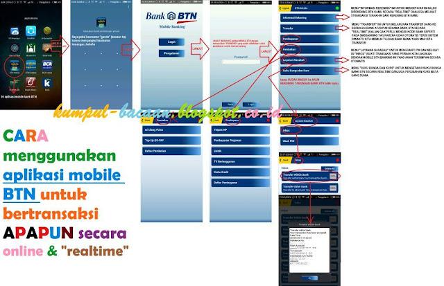 kemudahan cara pakai menggunakan aplikasi mobile BTN
