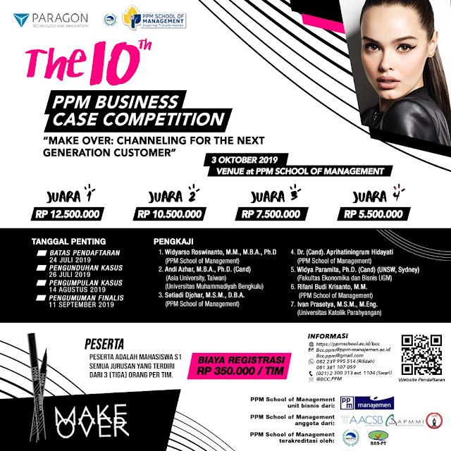 Lomba PPM Business Case Competition 2019 Untuk Mahasiswa Nasional