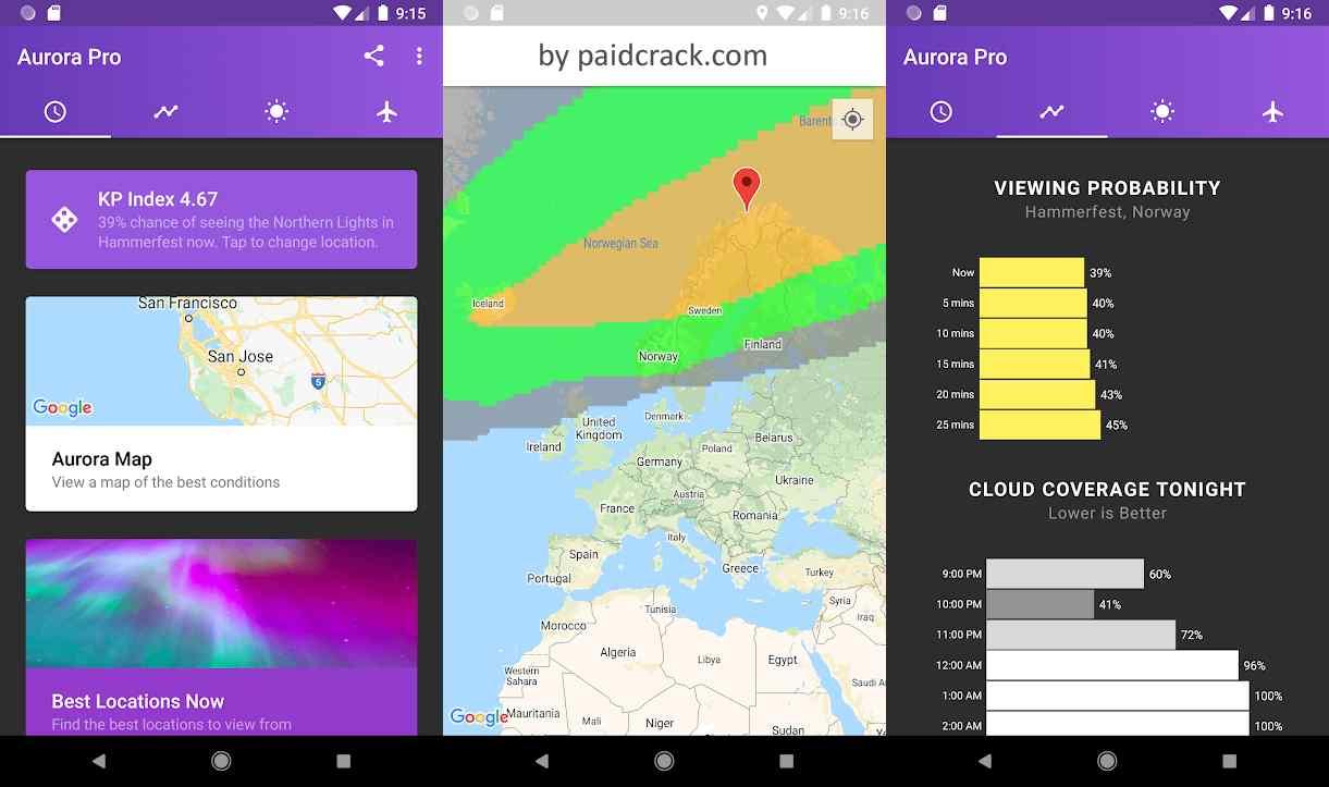 My Aurora Forecast Pro - Aurora Borealis Alerts Paid Apk 3.2.2