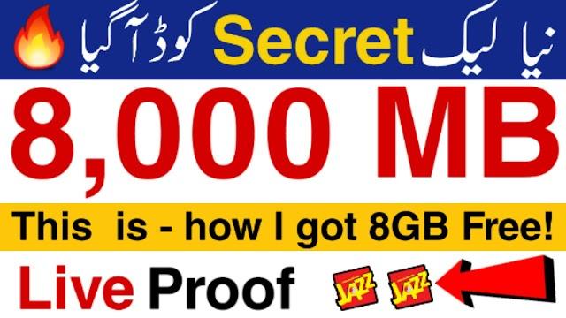 Jazz Free Internet Packages (Secret Codes)