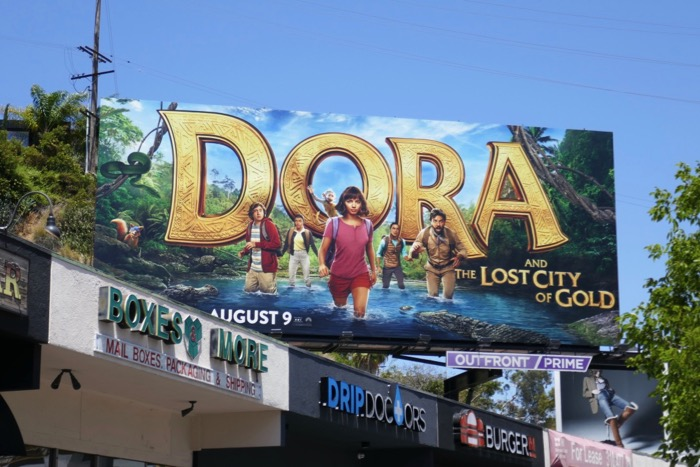 Dora Lost City of Gold film billboard