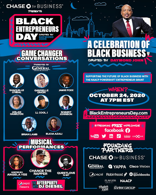 Black Entrepreneurs Day, Curated by Daymond John, Presented by: Chase for Business [RJOVenturesInc.com]