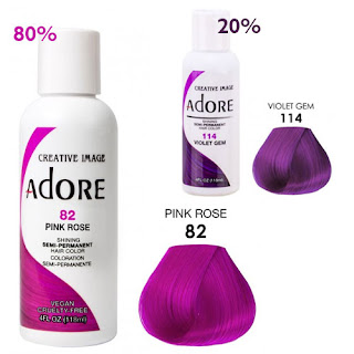 adore hair color pink rose violet gem bee balm firelight