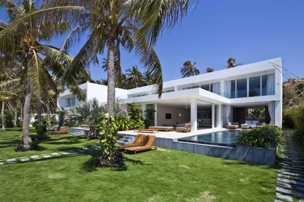 taman desain rumah seperti villa