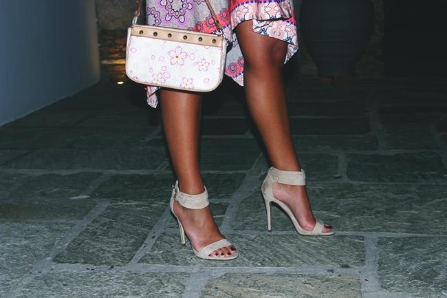 Suede beige sandals