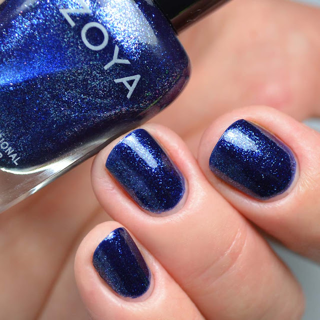 blue metallic nail polish swatch