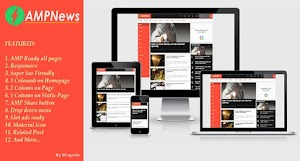 Premium AMP Blogger template AmpNews