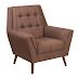 Flash Furniture HERCULES Kensington Series Modern Brown Fabric Tufted Arm Chair