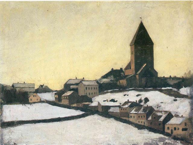 Эдвард Мунк - Старая церковь в Акере. 1881