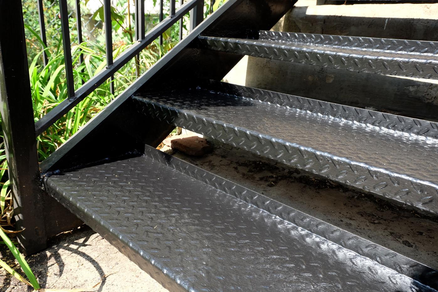 repainted metal steps